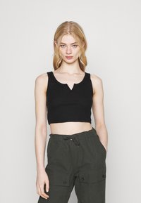 Topshop - WAFFLE NOTCH 3 PACK - Top - black/white/grey - 4