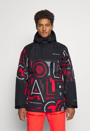 PARK RUN ANORAK - Snowboard jacket - black typo/black