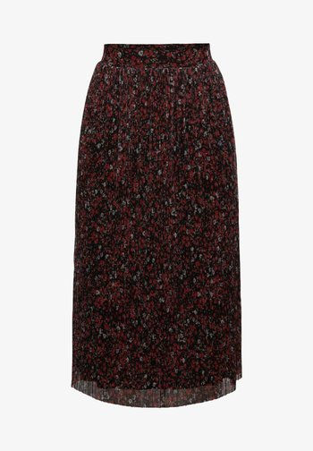 MILLEFLEURS - A-line skirt - black