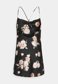 Abercrombie & Fitch - CHASE SLIP MINI DRESS - Cocktailkjole - black - 1