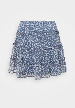 TIERED SKIRT  - Mini skirt - navy