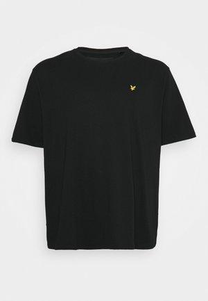 PLUS PLAIN - Jednoduché triko - jet black