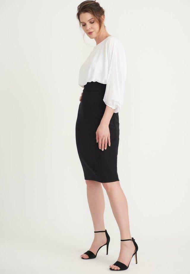 Shift dress - schwarz weiß