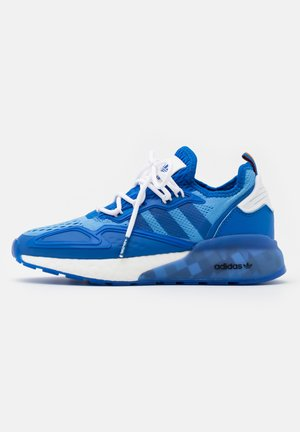 NINJA ZX 2K BOOST SHOES UNISEX - Trainers - blue/footwear white/collegiate green