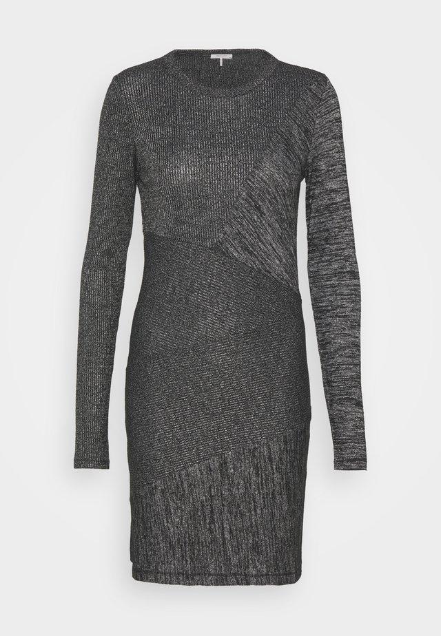 THE TONAL BLOCKED DRESS - Shift dress - black
