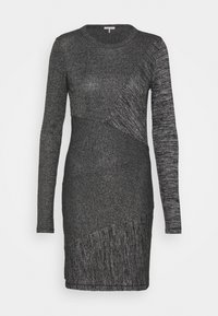 rag & bone - THE TONAL BLOCKED DRESS - Shift dress - black - 4