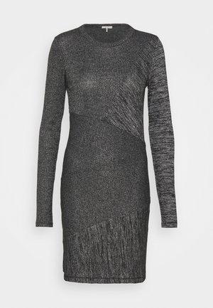 THE TONAL BLOCKED DRESS - Pouzdrové šaty - black