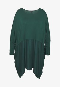 CAPSULE by Simply Be - COLOUR BLOCK HANKY TUNIC - Topper langermet - forest green - 4