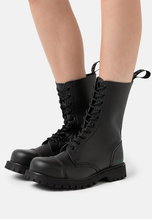 B-GUN VEGAN - Šněrovací vysoké boty - black