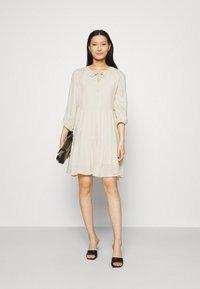 Selected Femme - SLFNAIDA SHORT DRESS - Day dress - sandshell - 1