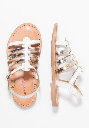 MONGUE - Sandals - blanc/multicolor