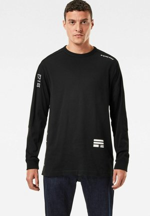 MULTI LOGO  - Long sleeved top - dk black