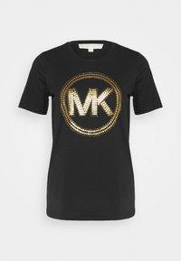 MICHAEL Michael Kors - Camiseta estampada - black/antique brass - 4