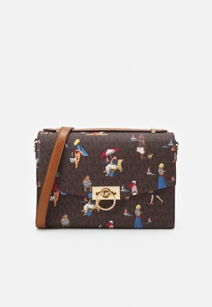 HENDRIX - Handbag - brown/multi