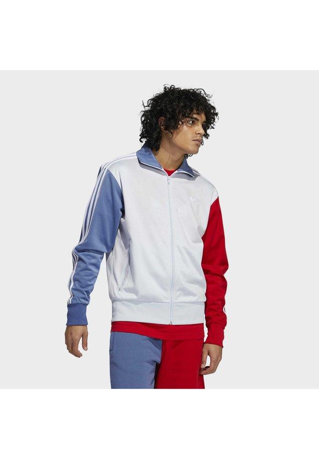 Training jacket - halo blue/crew blue/scarlet