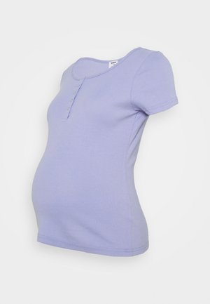 MATERNITY HENLEY SHORT SLEEVE - Triko s potiskem - powder blue