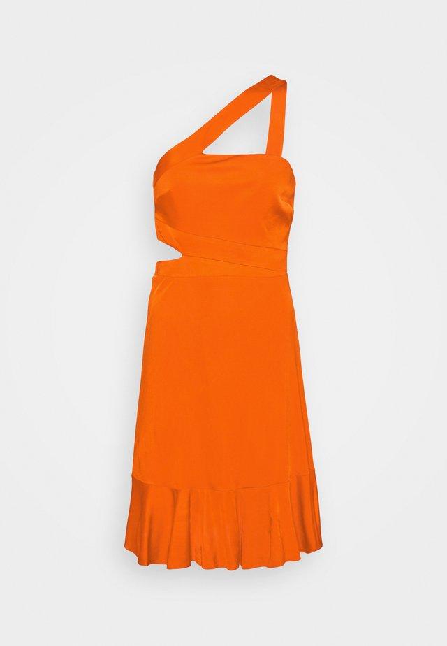 EVE SHORT DRESS - Denní šaty - open orange