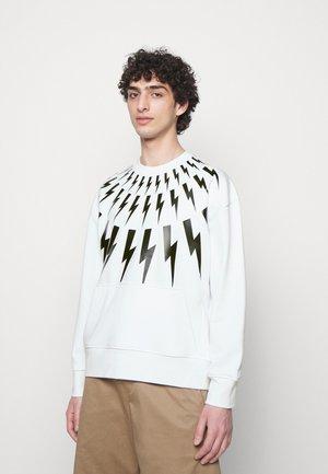 FAIR ISLE THUNDERBOLT - Sweatshirt - white/black