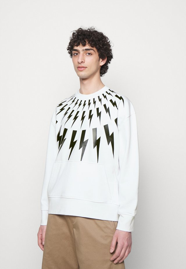 FAIR ISLE THUNDERBOLT - Sweatshirt - white/black