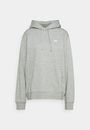 CLUB HOODIE - Hoodie - grey heather/matte silver/white