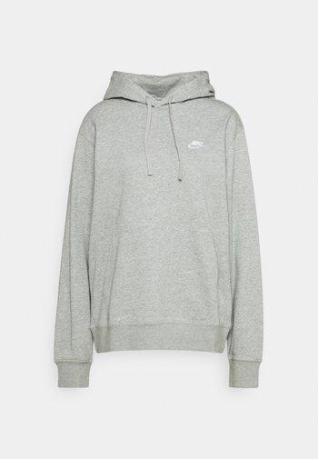 CLUB HOODIE - Luvtröja - grey heather/matte silver/white