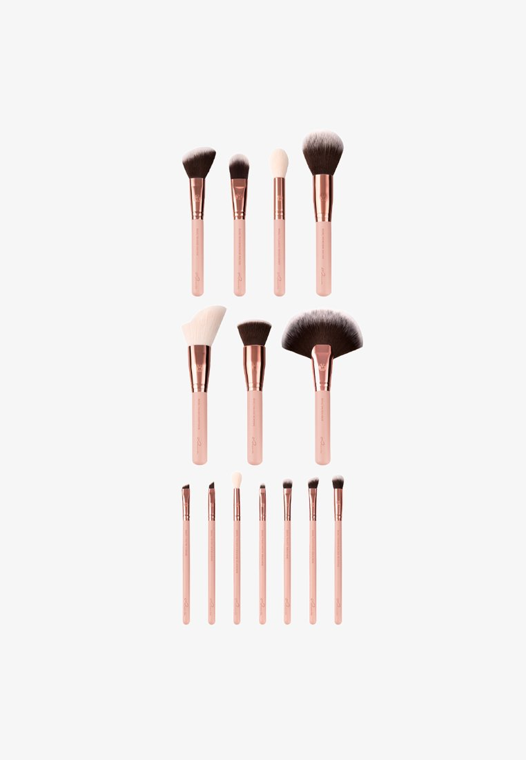 Luvia Cosmetics - ESSENTIAL BRUSHES - Makeup brush set - rose golden vintage