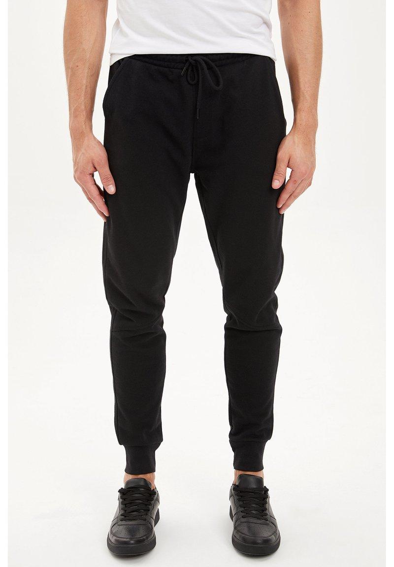 DeFacto - DEFACTO TRACKSUIT BOTTOMS - Spodnie treningowe - black