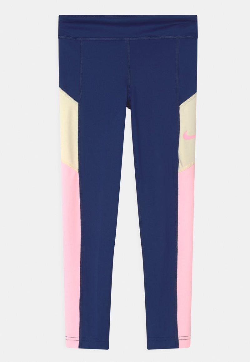 Nike Performance - TROPHY - Legging - blue void/arctic punch/coconut milk
