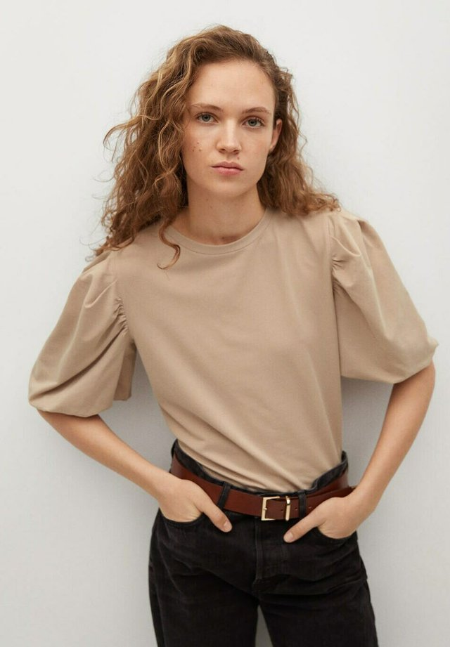 T-shirt basic - middenbruin