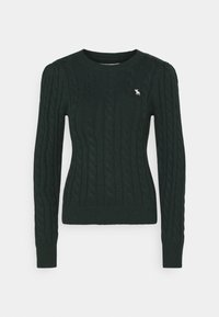 Abercrombie & Fitch - CABLE ICON MOOSE CREW - Jumper - dark green - 0