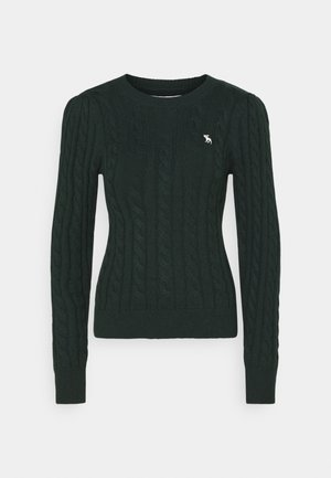 CABLE ICON MOOSE CREW - Strickpullover - dark green