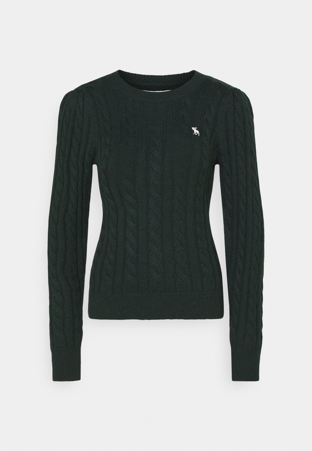 CABLE ICON MOOSE CREW - Maglione - dark green