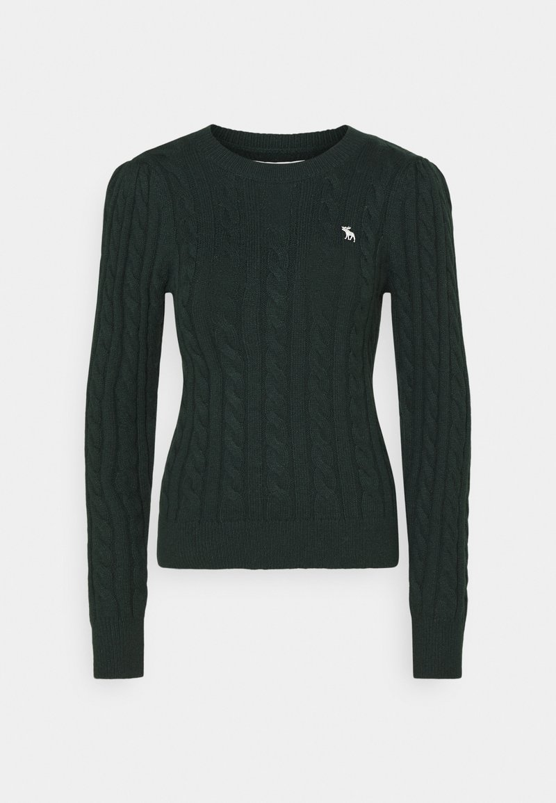 Abercrombie & Fitch - CABLE ICON MOOSE CREW - Jumper - dark green
