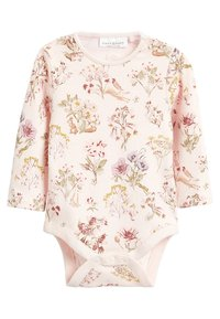 Next - DUNGAREE AND FLORAL BODYSUIT SET - Body - pink - 2