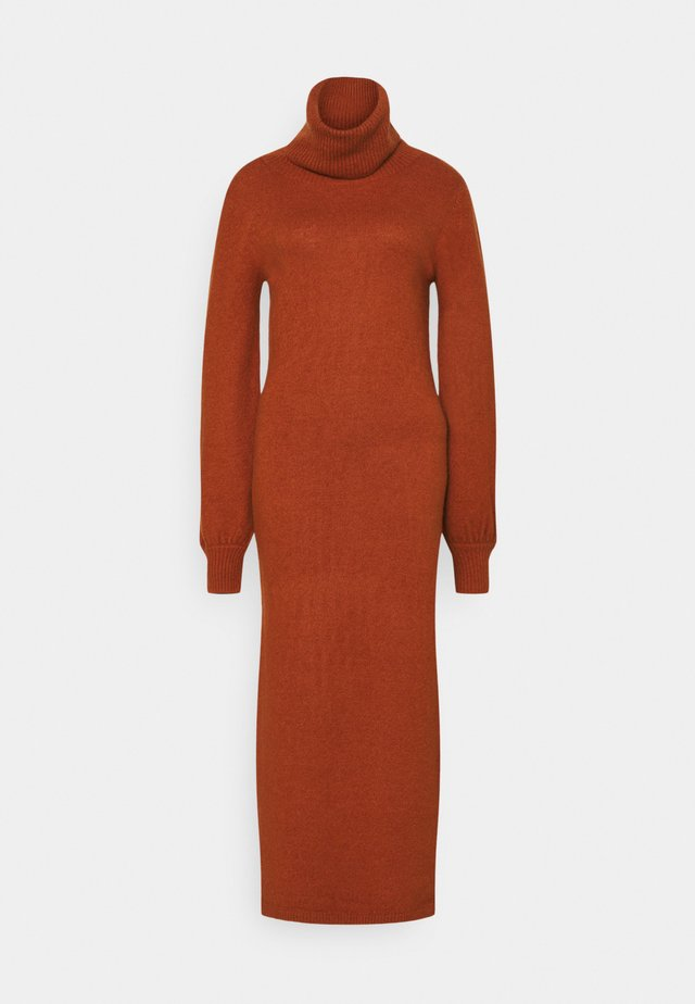 LADIES DRESS  - Gebreide jurk - rust