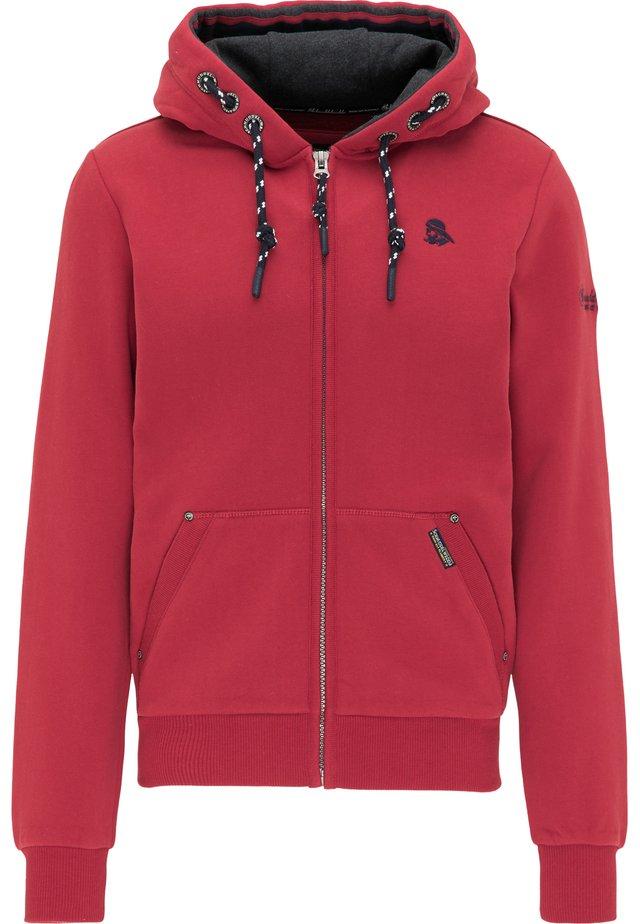 veste en sweat zippée - rot