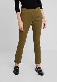 Sisley - TROUSERS - Pantaloni - olive - 0