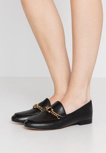 HELENA C CHAIN LOAFER - Slippers - black