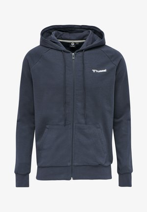 HMLISAM  - Zip-up hoodie - blue nights