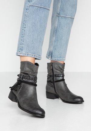 BOOTS - Cowboy/biker ankle boot - dark grey