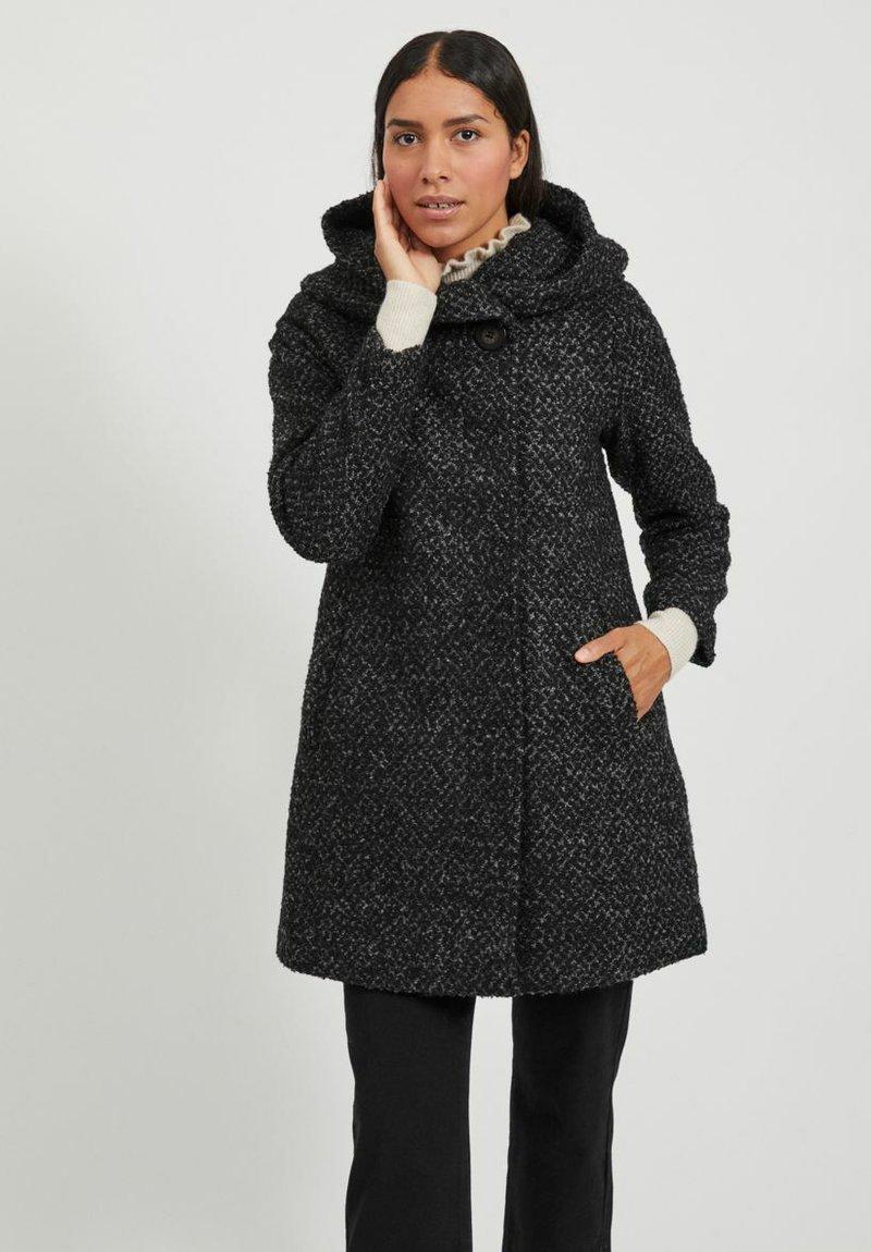Vila - Classic coat - medium grey melange