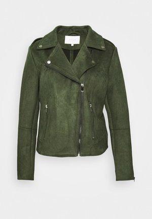 VIFADDY JACKET - Faux leather jacket - forest night