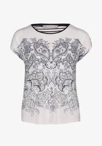 Betty & Co - Print T-shirt - weiß blau - 3