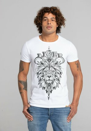 LIMITED TO 360 PIECES - LUCKY DUBZ - ORIGAMI - Print T-shirt - white