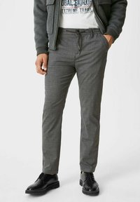 C&A - Trousers - black / grey - 0