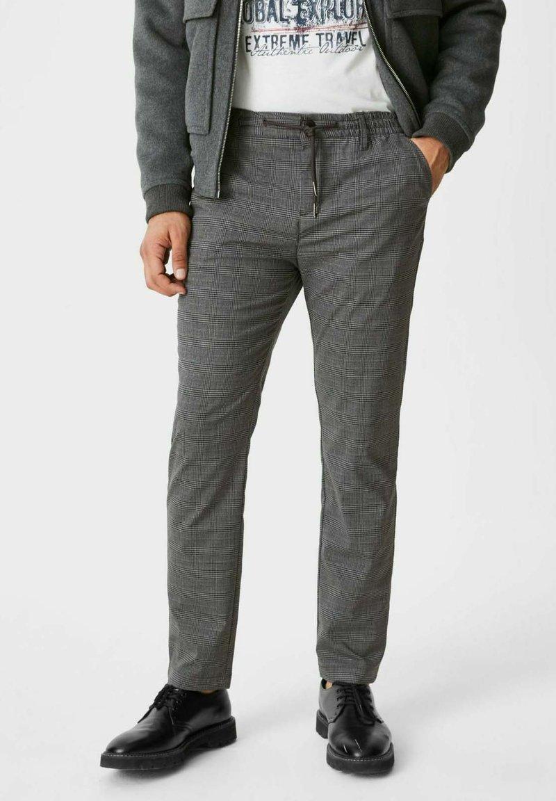 C&A - Trousers - black / grey