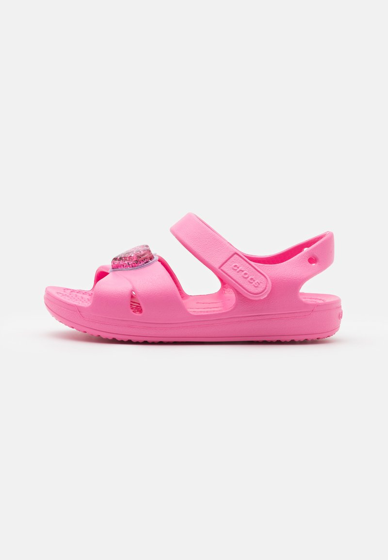 Crocs - CLASSIC CROSS STRAP CHARM - Pool slides - pink lemonade