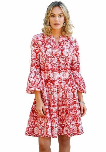 Day dress - weiß rot