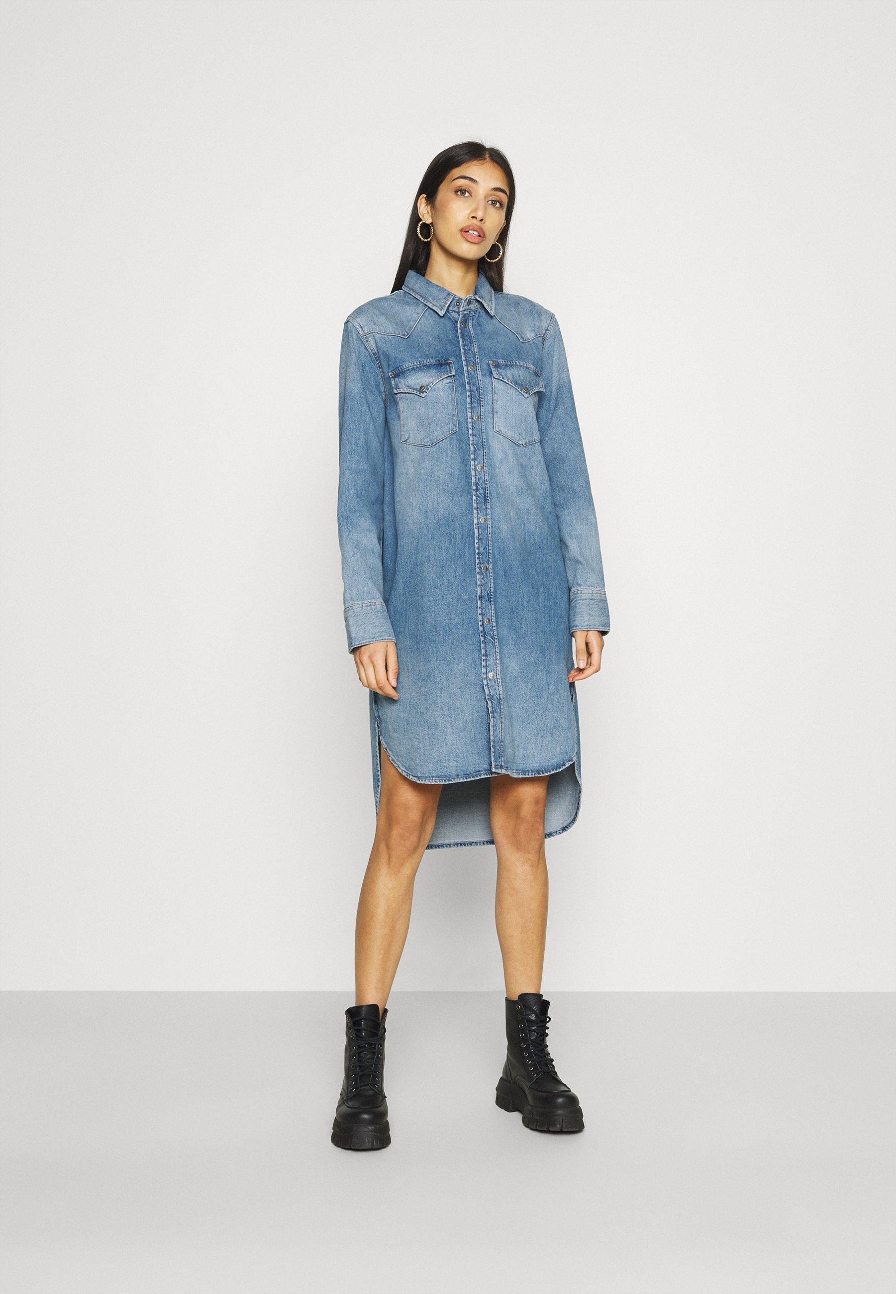 Femme BLANCHE - Robe en jean