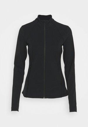 POWER WORKOUT ZIP THROUGH JACKET - Sportovní bunda - black